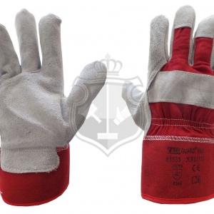 Werkhandschoen dik (rood)