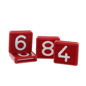 Schuifnummer 0 rood
