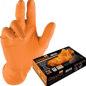 Melkhandschoen Nitril Oranje 50st. L